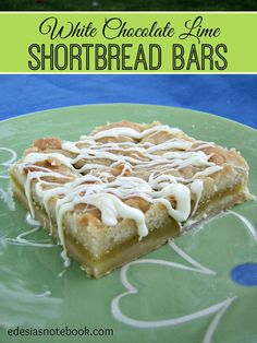 White Chocolate Lime Shortbread Bars #desserts