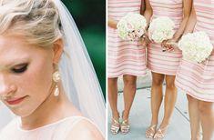 pink striped bridesmaids