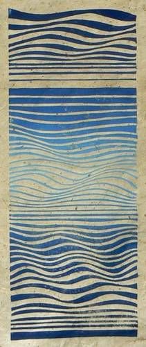 Waves: Striped Pebble, linocuts, drawings and paintings to buy online