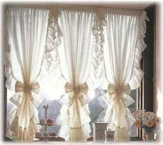 Kitchen Window Curtains Farmhouse Curtains Country Curtains French Country Living Room French Country Kitchens Curtain Styles Curtain Designs Beautiful Curtains Home Living Room Kitchen Window Curtains, Home Curtains, Farmhouse Curtains, Ruffle Curtains, Shabby Chic Curtains, Shabby Chic Decor, Shabby Chic Office, Bedroom Bed Design, Bedroom Decor
