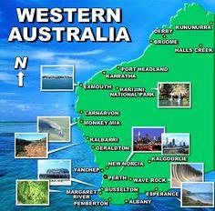 Map of Western Australia,