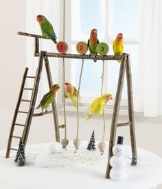 DIY Small Pet Swing Set - PetDIYs.com