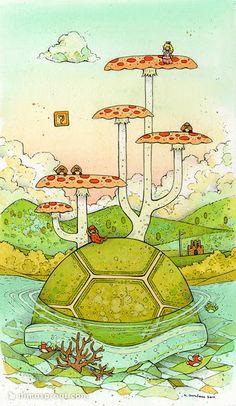 nicole gustafsson - A Mario World  #mario #princesspeach #wallpapers