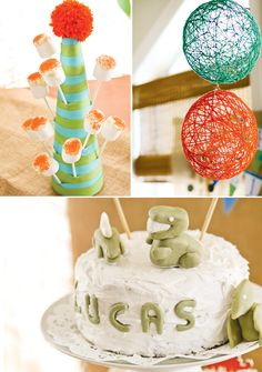 cute display for cake pops or marshmellow treats