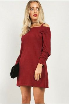 c9dc6f6a790 Be Jealous Tarja Ribbed Swing Dress Red UK Size 20 22 TD075 CC 13