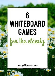 6 Whiteboard Games for the Elderly: Whiteboards are an indispensable tool for Activity Coordinators and can be used for group activities, communication and learning! Group Activities For Adults, Group Therapy Activities, Cognitive Activities, Occupational Therapy Activities, Elderly Activities, Physical Activities, Physical Education, Work Activities, Elderly Crafts