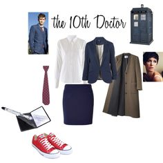 The clothes to make an outfit for the female version of The 10th Doctor. Perfect. We'll wear it. Doctor Who