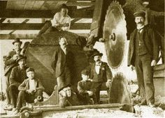 Woodworking Circular Saw Mill- hats required, awesome mustaches are optional Circular Saw Reviews, Best Circular Saw, Circular Saw Blades, Woodworking Jigs, Woodworking Projects, Lumber Mill, Saw Wood, Big Tree, Ol Days