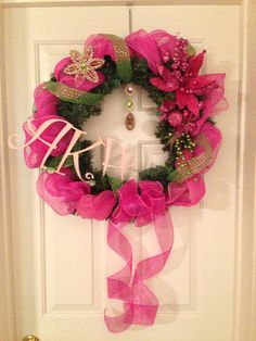 AKA Custom Sorority/Fraternity Wreath in Alpha Kappa Alpha on Etsy, $55.00