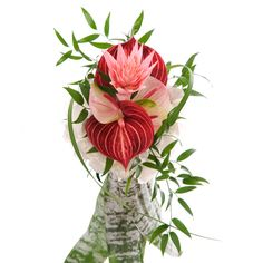 Have to ask the florist to do this one with orange, red and green