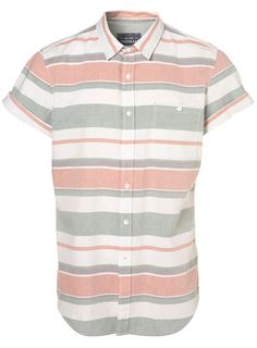 Peach Horizontal Stripe Shirt from Topman