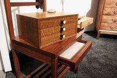Repurposed organ pulls from Volk Furniture