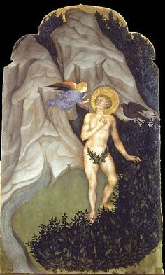 Niccolò di Pietro - Saint Benedict Tempted in the Wilderness. Google Art Project, Sea Art, Rainbow Art, Photo Craft, African Art, Art Google, Les Oeuvres, Saints, Culture