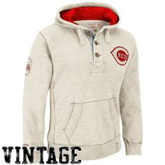 fbc6a9f49ced0 Mitchell   Ness Cincinnati Reds Cooperstown Collection Playmaker Hoodie -  Natural Red Hoodie
