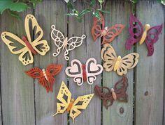 Cute scroll saw butterflies for the garden!