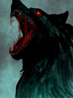 Fenrir the wolf of Norse mythology and vikings learn this - Anime Wolf Dark Fantasy Art, Dark Art, Anime Wolf, Fenrir Tattoo, Art Noir, Werewolf Art, Arte Obscura, Vampires And Werewolves, Arte Horror