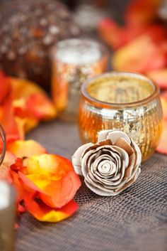 The Perfect Palette: {Festive Fall}: Shades of Orange, Gold, Gray + Lavender