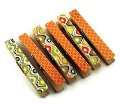Decorative Clothespins Altered Clothespins by funkychickendesign, $5.00