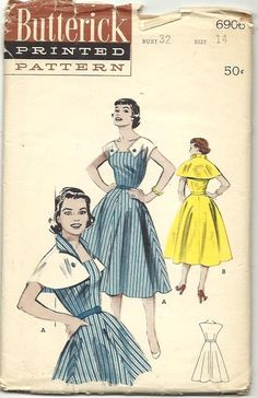 Butterick 6906; Sz 14/Bust 32. Reminds me if the Beauxbatons Academy dresses from Harry Potter.