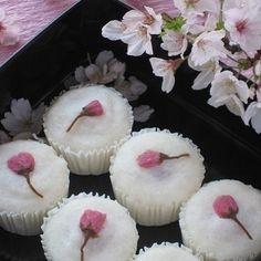 お花見に♪ 桜と甘酒の蒸し饅頭