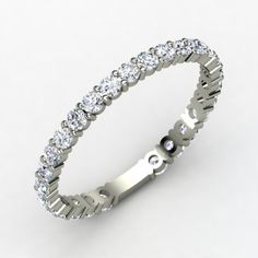 The perfect addition to an engagement ring and wedding band....the more the merrier!