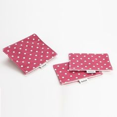 Fit & Fresh Reusable Sandwich and Snack Bag (3 Piece Set) - Pink Polka Dot