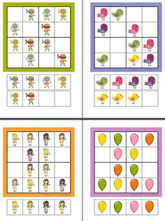 6 Divertidos sudokus de diferentes niveles Animal Worksheets, Logic Puzzles, Montessori Activities, 1st Grade Math, Math For Kids, Thinking Skills, Brain Teasers, Coloring Book Pages, Coloring For Kids