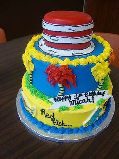 Dr Suess Birthday Cake At Oh Snap Cupcakes Pensacola FL