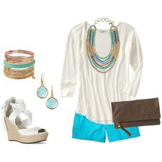 Casual yet chic summer afternoon, created by fennellbs on Polyvore by Mama 2014