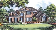 New American House Plan with 2998 Square Feet and 4 Bedrooms(s) from Dream Home Source | House Plan Code DHSW43320
