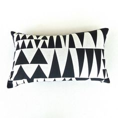 Graphic Black and White Geometric Print Pillow / by OnHighat5