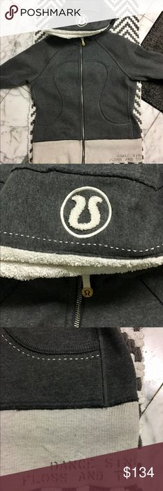 """Lululemon Special Edition Scuba Sweatshirt - RARE EUC Limited Special Edition Lululemon """"Scuba"""" hoodie lined with the SOFTEST, most snuggly fleece ever! """"Dance, Sing, Floss, Travel"""" manifesto printed on the left side of the front waistband and faintly across the back.  Signature lulu thumb holes, logo hood and logo zipper pull -- you're going to LIVE in this hoodie. Trust. lululemon athletica Tops Sweatshirts & Hoodies"""