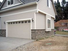Faux Stone Paneling Can Make For A Great Exterior Home Design Concept.