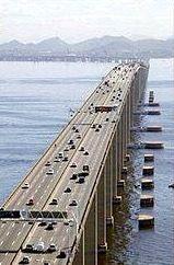 Rio-Niterói Bridge, over Guanabara bay.