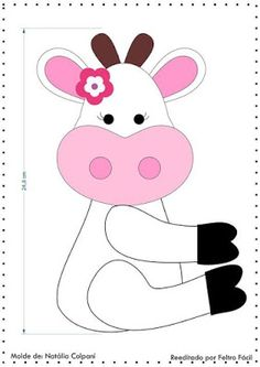 Moldes y tutorial para hacer vaquitas en fieltro para la cocina ~ cositasconmesh Felt Crafts, Diy And Crafts, Arts And Crafts, Cow Craft, Yarn Animals, Cow Pattern, Art Drawings For Kids, Felt Decorations, Felt Patterns