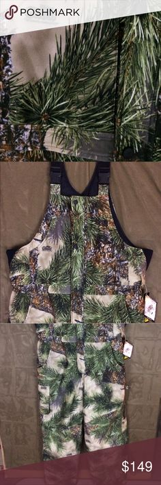 Ridge Ghost Camo Insulated Overalls XL TALL The most beautiful camo ever, so realistic, the Ridge Ghost pattern from Ghost Camo/Montana Camo. New with tags past season IMPOSSIBLE to find, purchased locally but were too tall for the intended recipient. Could be tailored fairly easily but maybe there's a tall person looking for these very things! XL lots of pockets, rugged zippers and the coolest rubber covered buttons. Montana Camo Pants