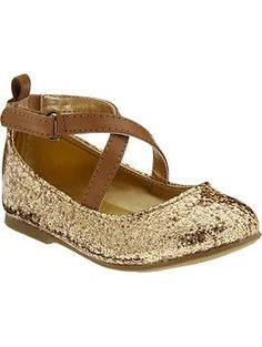 Covered-Glitter Mary-Janes for Baby | Old Navy Gold and Silver available
