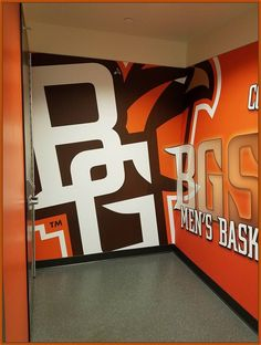 BGSU has a long-standing tradition in the community. We were called to install a curtain & rod in the basketball locker room. You can use this same idea at home!