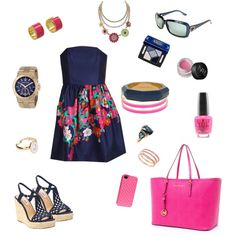 Navy & Pink Lilly Pulitzer, created by jessica-gillespie on Polyvore