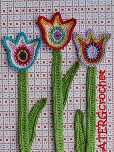 Crochet pattern tulip by ATERGcrochet - pattern for sale on etsy.