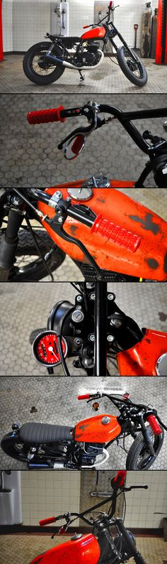"Honda CM 125 ""Orange Mecanique"" by Blitz Motorcycles - http://blitz-motorcycles.com/"