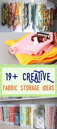 fabric storage | sewing room organization | sewing room | craft storage ideas
