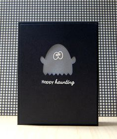 Happy Haunting Card by Cristina Kowalczyk for Papertrey Ink (August 2012)