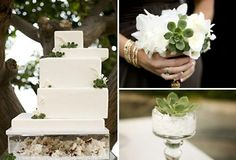 Greer Loves: Succulent Inspired Wedding Cakes