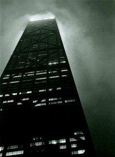 """""""The building that was once called the Sears Tower-we call it the Hub-emerges from the fog, a black pillar in the skyline."""" pg. 4"""