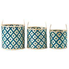 Set Of 3 Fashion Bamboo Baskets