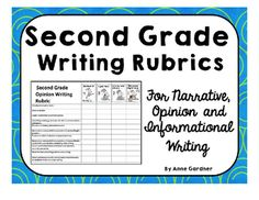 Second Grade Writing Rubrics and Icons. ($)