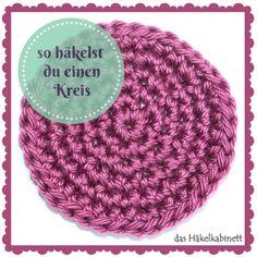 So häkelst du einen Kreis - Knitting Crochet ideas Motifs Granny Square, Granny Square Crochet Pattern, Crochet Stitches, Crochet Hooks, Crochet Squares, Crochet Granny, Granny Squares, Crochet Unique, Crochet Simple