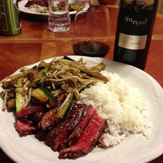 2011 Tin Roof Cellars Zinfandel Paired with Oriental Beef Stir Fry