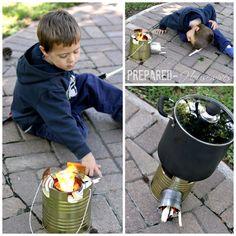 how to build a rocket stove Survival Stove, Camping Survival, Survival Prepping, Emergency Preparedness, Survival Skills, Hurricane Preparedness, Survival Shelter, Survival Life, Homestead Survival